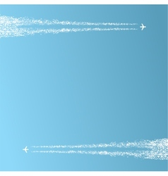 two planes in sky vector image