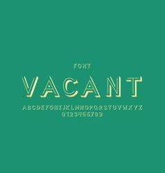 vacant font alphabet vector image