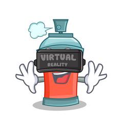 Virtual reality aerosol spray can character vector
