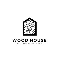 wood house pattern logo design inspiration vector image