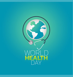 world health day logo icon design vector image