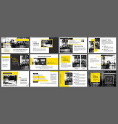 yellow and white element for slide infographic on vector image