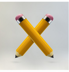 Yellow pencils icon vector