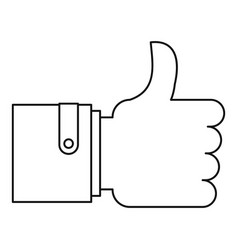 approval and like sign icon outline style vector image