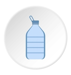 Bottle of water icon flat style vector image