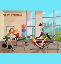 Exercise room vector