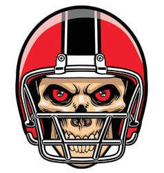 football player skull vector image vector image
