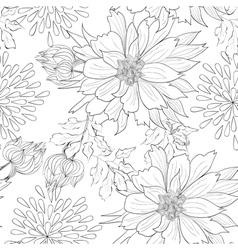 monochrome seamless wallpaper vector image vector image