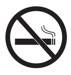 no smoking sign on white background no smoking vector image