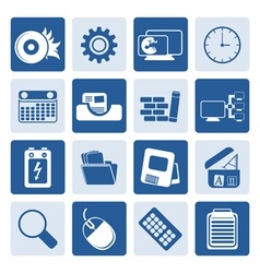 One tone computer mobile phone and internet vector