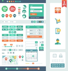 UI elements for web and mobile vector image vector image