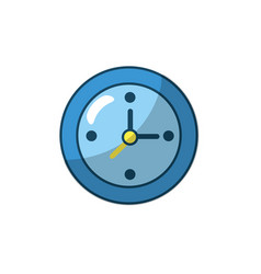 wall clock to know hours time vector image vector image