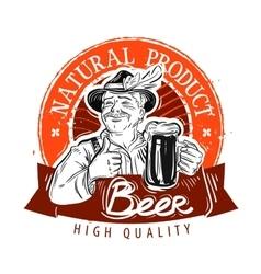 beer ale logo design template pub or vector image vector image