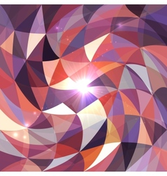 Bright abstract triangles grid background vector image