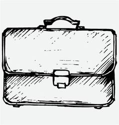 Business bag vector image