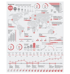 Economical and industrial infographic elem vector