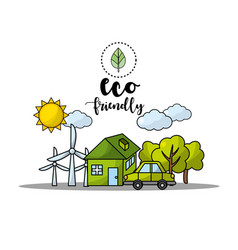 Environment care to earth planet protection vector