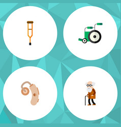 flat icon disabled set of equipment stand vector image vector image