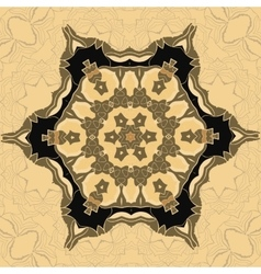 Oriental ornamental pattern in brown color vector image vector image