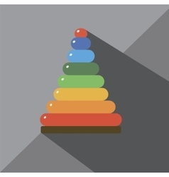 Pyramid for the child vector image