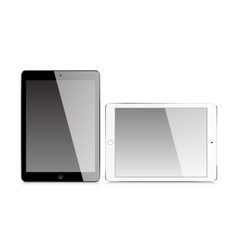 Realistic tablet with blank screen vector image vector image