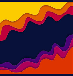 Abstract colored wave background vector