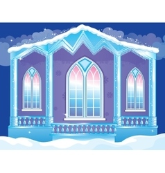 Brilliant Facade Of Ice Palace vector image vector image