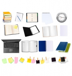 colection of business elements vector image