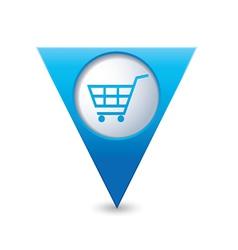 shop basket icon pointer blue vector image vector image