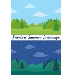 Summer Forest Seamless Landscapes vector image vector image