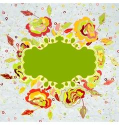 Vintage valentine floral card EPS 8 vector image