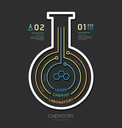 Creative template chemistry test tube banner line vector image vector image