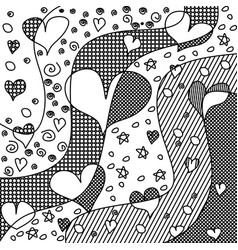 heart zen tangle zendoodle love vector image