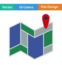 Icon of map scheme vector image vector image