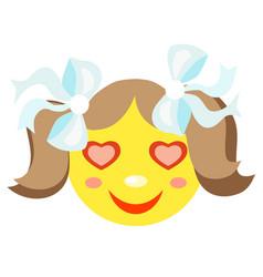 in love smiley girl vector image vector image