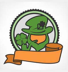 leprechaun circle logo vector image vector image