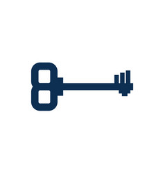 old key isolated ancient door clef on white vector image
