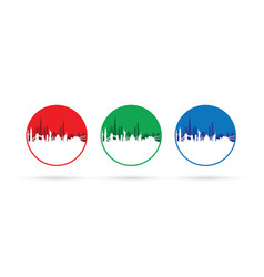 set of three cityscapes vector image vector image