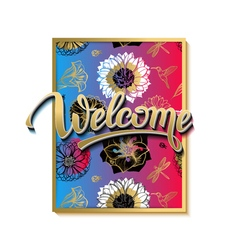 Welcome spring poster advertising of spring vector image vector image