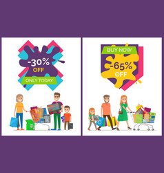 30 off only today banners vector image
