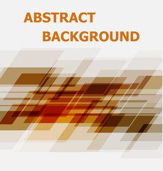 abstract orange geometric overlapping design vector image
