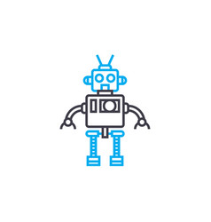 android linear icon concept android line vector image