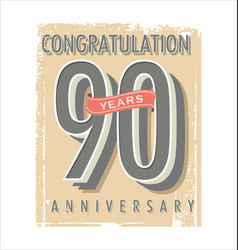 anniversary banner collection 90 years vector image