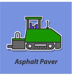 asphalt paver color flat icon vector image