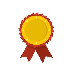 award ribbon icon flat vector image