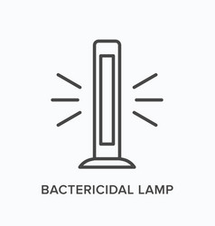 bactericidal lamp line icon outline vector image