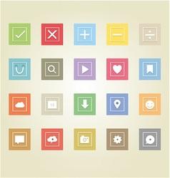 Basic web icons 2 vector image