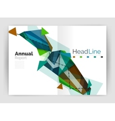 Business triangle design modern business annual vector