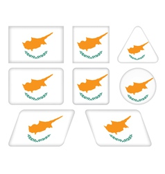buttons with flag of Cyprus vector image