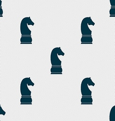 Chess knight icon sign Seamless pattern with vector